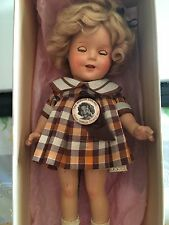 "SHIRLEY TEMPLE 13"" IDEAL COMPOSITION DOLL 2013 ORIGINAL Box & pin"