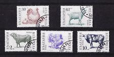 BULGARIE  série animaux de la ferme  poule vache bouc dindon taureau  1991