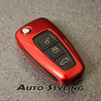 Red Key Cover Case for Ford Remote Protector Flip Fob Hull 2 3 Button Bag 47fr