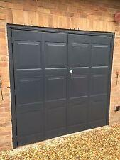 Anthracite Grey Or Black side opening garage door steel Hinged Steel Modern