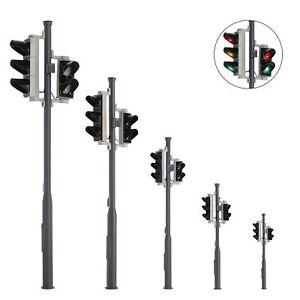 2 Stück Verkehrsampel mit Fußgängerampel und LEDs Fahrzeug