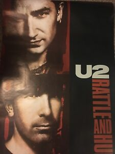 U2 Rattle And Hum 1988 Rare Giant Banner Promo Poster 6' Long