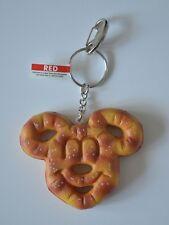 Mickey Mouse Pretzel Food Keychain Disney World Theme Parks New