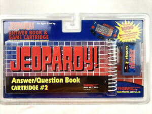 Jeopardy! Answer/Question Book Cartridge #2 Tiger Electronic LCD Game