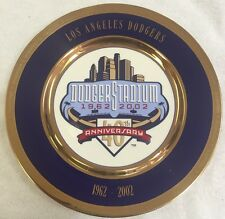 Dodgers 40th Anniversary 1962-2002 Full Size Decoration Plate!! Mint Condition!!