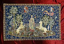 Tapisserie de ITALY tapis La Dama e unicorno Gusto Arazzo tapisserie Bleu