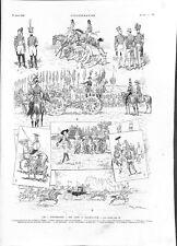 Triomphe fête à Saint-Cyr Uniformes Ier Empire ,Don-Quichotte,Sioux GRAVURE 1903