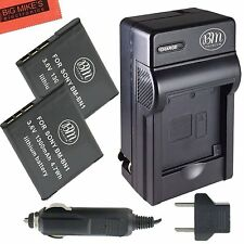 BM NP-BN1 2X Batteries & Charger for Sony CyberShot DSC-T110,TF1,TX10,TX100V