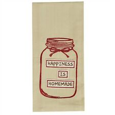 """Happiness Is Homemade Applique Country Cotton Kitchen Dish Towel 18""""x28"""""""