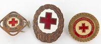 .RARE LOT EAST GERMAN DDR DEUTSCHES ROTES KREUZ - GERMAN RED CROSS SMALL BADGES.