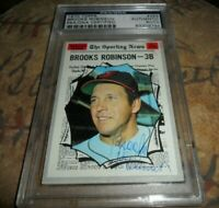 1970 Topps BROOKS ROBINSON #455 Autograph Signed BALTIMORE ORIOLES HOF  PSA/DNA