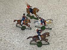 vier alte Zinn Reiter, Spielzeug, Deko (G)15890