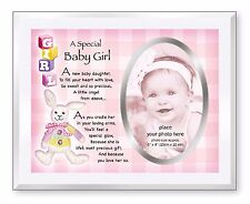 A Special Baby Girl Glass Photo Picture Frame