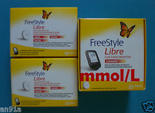 mmol/L Freestyle Libre Messgeraet Lesegeraet + 2 Sensoren * HAENDLER * NEU * OVP
