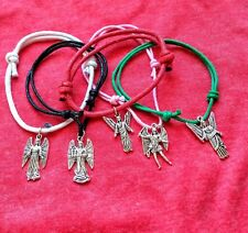 Personal Gift Cord Bracelet/Anklet Spiritual Your Guardian Angel Silver Charm