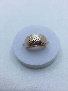 9ct 375 rose gold dome ring light weight. Size P Not scrap.