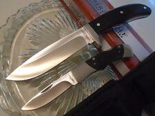 Timber Wolf Hunter Bowie & Lockback Pocket Knife Duo Black Micarta 3Cr13 Tw578