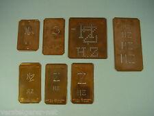 7 x HZ alte Merkenthaler Monogramme, Kupfer Schablonen, Stencils, Patrons broder