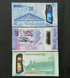 NEW 3 Banknotes £20 Northern Ireland Notes - Polymer/Plastic - UNCIRCULATED