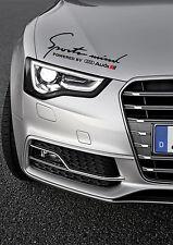 Audi Sports Mind sticker Black decal logo S-line Q7 A3 A6 A8 A4 RS Q5 RS4