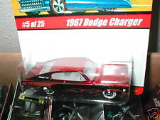Hot Wheels Classics series 1  #5 1967 DODGE CHARGER red