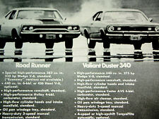 1970 PLYMOUTH GTX-BARRACUDA-DUSTER-ROAD RUNNER AD-426 HEMI/440/340 V8 engine/69