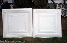 Sale 4 pcs Vintage Ceiling Tin Tile Simple Elegant Chic Cottage Ceiling Fleur De
