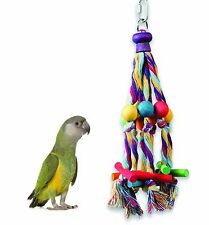 HAPPY PET OCTOPUS ROPE & WOOD PARROT PREENING TOY HELPS PLUCKING & BOREDOM 00707