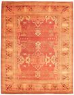 """Vintage Hand-knotted Carpet 8'1"""" x 9'7"""" Traditional Dark Red Wool Area Rug"""