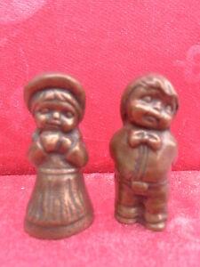 2 Belle Figurines __Bronze__ Travail Manuel ___