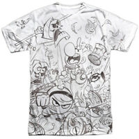 Authentic Grim Adventures of Billy and Mandy Brawl Cartoon Network Front T-shirt