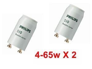 Fluorescent  Starter Unit Switch  FSU Suits Tubes 4 - 65w  Watt Philips Pack 2