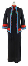 Vtg Eleanor Brenner Brenner Bees Black Knit Maxi Aztec Matching Sweater Evening