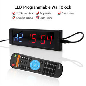 Programmable LED Interval Timer Clock Training Home Fitness Crossfit Tabata Gym