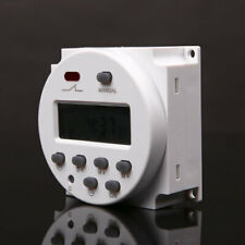 12 Volt 16 Amp LCD Digital Display Programmable Time Timer Switch for Light Fans