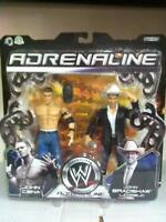 "WWE Wrestling Adrenaline Serie 15 JOHN CENA & JOHN BRADSHAW 7"" MOC, 2005"