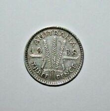 1938  3d  Australia George VI Sterling Silver Threepence (very Nice)