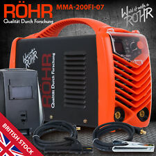 ARC Welder Inverter MMA 240V 200amp DC Portable Stick Machine and Mask - ROHR