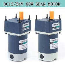 DC12/24V 60W High Torsion Adjustable Speed Gear Permanent Magnet DC Geared Motor