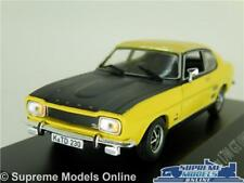 FORD CAPRI MK1 1700 GT MODEL CAR 1:43 SCALE YELLOW IXO HACHETTE COUPE 69-72 K8