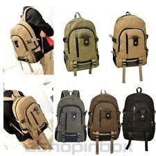 Men Vintage Canvas Backpack Rucksack Travel Sport School Book Laptop Camping Bag