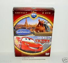 COFFRET 2 DVD VIDEO DISNEY CARS & RATATOUILLE