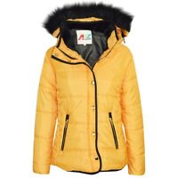 Kids Girls Padded PufferJacket Bubble Faux Fur Collar Quilted Warm Coat 3-13 Yrs