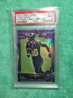 2015 TOPPS CHROME PURPLE RC REFRACTOR TODD GURLEY PSA MINT 9
