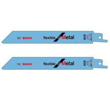 "2x Bosch 2608657551 S922EF Reciprocating Sabre Saw Blades 150mm/6"" Flexible"