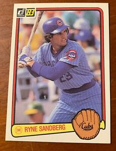 2 1983 Donruss #277 Ryne Sandburg HOF Chicago Cubs Rookie Cards