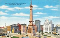 Postcard Monument Circle Indianapolis Indiana