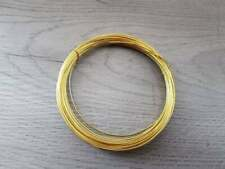 10 Metres Solid Bare Round Brass Wire - 0.5mm - 24AWG
