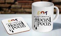 Hocus Pocus Artwork Quote Tea / Coffee Mug Coaster Gift Set