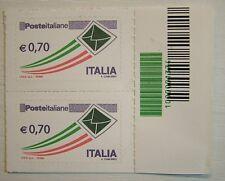 2013   Italia  Coppia    posta ordinaria   codice a  barre 1374  Varietà !!
